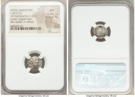 LYCIAN LEAGUE. Masicytes. Ca. 48-20 BC. AR hemidrachm (14mm, 1.87 gm, 12h). NGC MS 5/5 - 4/5. Series 1. Laureate head of Apollo right; Λ-Y below / M-A...