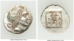 LYCIAN LEAGUE. Masicytes. Ca. 48-20 BC. AR hemidrachm (15mm, 1.67 gm, 12h). AU. Series 4. Head of Apollo right, wearing taenia / ΛΥΚΙΩΝ, cithara (lyre...