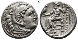 "Kings of Macedon. Kolophon. Alexander III ""the Great"" 336-323 BC. In the name and type of Alexander III; Struck under Philip III, circa 322-319 BC. Dr..."