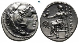 "Kings of Macedon. Mylasa. Alexander III ""the Great"" 336-323 BC. Struck circa 300 - 280 BC. Drachm AR"