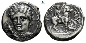 Kings of Macedon. Amphipolis. Philip II of Macedon 359-336 BC. Lifetime issue, circa 348-342 BC.. 1/5 Tetradrachm AR