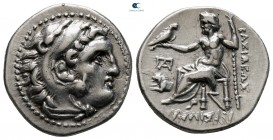 Kings of Thrace. Lampsakos. Macedonian. Lysimachos 305-281 BC. In the types of Alexander III. Drachm AR