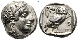 Attica. Athens 470-465 BC. Transitional issue. Tetradrachm AR