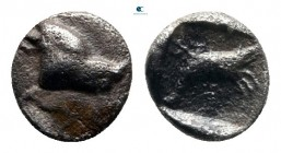 Asia Minor. Uncertain mint 550-450 BC. Tetartemorion AR