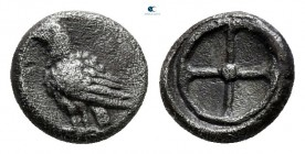 Asia Minor. Uncertain mint 500-450 BC. Hemiobol AR