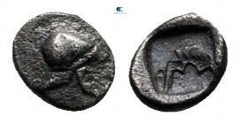 Asia Minor. Uncertain mint 500-400 BC. Hemitetartemorion AR
