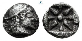 Asia Minor. Uncertain mint circa 500 BC. Hemiobol AR