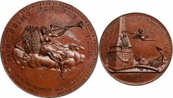 """1905"" Treaty of Commerce Between Holland and the United States Medal. Holland Society of New York Replica. Bronze. 44.6 mm. After Betts-604. Mint Sta..."