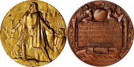 1892-1893 World's Columbian Exposition Award Medal. Bronze, Obverse Gilt. 76.3 mm. By Augustus Saint-Gaudens and Charles E. Barber. Eglit-90, Rulau-X3...
