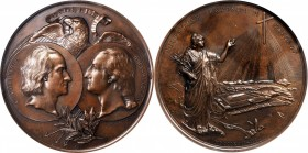 1892-1893 World's Columbian Exposition Rome Medal. Bronze. 91 mm. By C. Orsini and G.B. Millefiori. Eglit-102, Rulau X-14, Baker-K378. MS-64 BN (NGC)....