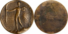 World's Columbian Exposition. Rejected Reverse Design of the Award Medal by Augustus Saint-Gaudens. 1975 Production by Buntin Foundry. Cast Bronze. 74...