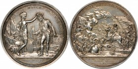 """1781"" (post-1839) General Daniel Morgan at Cowpens Medal. Barre Copy Dies. Silver-Plated. 56 mm. Betts-593, Julian MI-7, Adams-Bentley 10. Extremely ..."