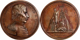 1818 Major General William Henry Harrison Medal. Bronzed Copper. 65.1 mm. Julian MI-14. About Uncirculated.