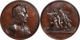 1815 Major General Andrew Jackson / Battle of New Orleans Medal. Bronze. 65.2 mm. Julian MI-15. Choice About Uncirculated.