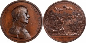 1818 Isaac Shelby / Battle of the Thames Medal. Bronze. 65.1 mm. Julian MI-21. Mint State.