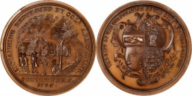 """1756"" (post-1874) Colonel John Armstrong / Kittanning Destroyed Medal. Copy Dies. Bronze. 48 mm. Julian MI-33, Betts-400. MS-67 BN (NGC).