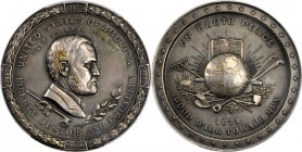 1871 Ulysses S. Grant Indian Peace Medal. The Only Size. Silver. 62 mm. Julian IP-42, Prucha-53. Specimen-58 (PCGS).