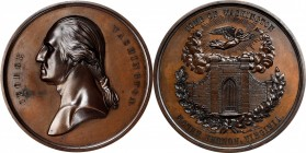 Undated (ca. 1857) Tomb of Washington Medal by Smith and Hartmann. Bronzed Copper. 64 mm. Musante GW-207, Baker-117A. Mint State, Obverse Spot.