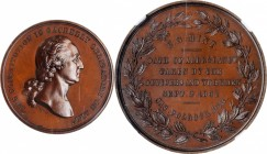 1861 U.S. Mint Oath of Allegiance Medal. Bronze. 30 mm. Musante GW-476, Baker-279B, Julian CM-2. MS-67 BN (NGC).