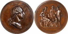 1887 International Medical Congress Medal. Bronze. 76 mm. Musante GW-1038, Baker F-378. Mint State.