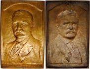 1919 Theodore Roosevelt Memorial Plaque. Cast Bronze. 155 mm x 249 mm. By Allen G. Newman. Nearly As Made.