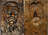 Undated Theodore Roosevelt Portrait Plaque. Cast Bronze. 125 mm x 180 mm. By a Skilled, but Uncertain Sculptor. Nearly As Made.