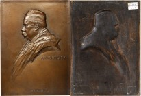 1905 Doctor Dumontier Plaque. Cast Bronze. 132 mm x 180 mm. By Victor D. Brenner. Smedley-63, ICEM-14. Choice Mint State.