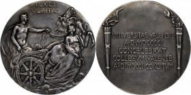 1901 Yale University Bicentennial Medal. Silver. 69.8 mm. 176.4 grams. By Bela Lyon Pratt. About Uncirculated.