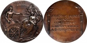 1901 Yale University Bicentennial Medal. Bronze. 69.8 mm. By Bela Lyon Pratt. About Uncirculated.