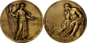 Undated Architectural League of New York Medal. Bronze. 64.4 mm. By Hermon A. MacNeil. Mint State.