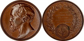 1884 Charles Edward Anthon Medal. Bronze. 68 mm. By Lea Ahlborn. Miller-7. Choice Mint State.