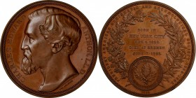 1884 Charles Edward Anthon Medal. Bronze. 68 mm. By Lea Ahlborn. Miller-7. Mint State.