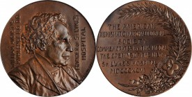 1896 William Augustus Muhlenberg / New St. Luke's Hospital Medal. Bronze. 51 mm. By Victor David Brenner. Miller-10, Smedley-19. Mint State.