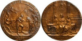1909 Hudson-Fulton Celebration Medal. Bronze. 63.4 mm. By Emil Fuchs. Miller-23. Mint State.