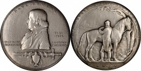 1925 Paul Revere Medal. Silver. 63.5 mm. 209.8 grams. By Anthony de Francisci. Miller-45. Edge #3. Mint State.