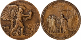 1926 Manhattan Tercentenary Medal. Bronze. 64 mm. By Hermon A. MacNeil. Miller-46. Edge #20. Mint State.