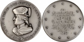 1939 Washington Sesquicentennial Medal. Silver. 63 mm. 125.8 grams. By Albert Stewart. Miller-47, Baker-3000. Edge #19. Mint State.