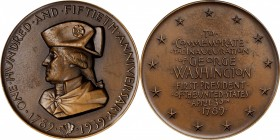 1939 Washington Sesquicentennial Medal. Bronze. 63 mm. By Albert Stewart. Miller-47, Baker-3000A. Edge #19. Mint State.