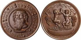 1930 Hail to Dionysus Medal. Bronze. 72 mm. By Paul Manship. Alexander-SOM 2.2, var. Choice Mint State.