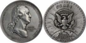 1974 United States Assay Commission Medal. Pewter. 57 mm. By Pierre Simon DuVivier and Frank Gasparro. JK AC-118a, Baker C-348. Rarity-7. MS-64 (NGC)....