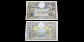Banque de France 100 Francs Luc Olivier Merson Grandes Cartouches, 8.8.1924 Ref : F. 24/2 F-VF