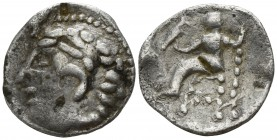 Eastern Europe. Imitation of Macedonian, First Meris 310-275 BC. Drachm AR
