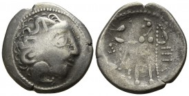 Eastern Europe. Imitation of Philip III of Macedon circa 150-50 BC. Tetradrachm AR