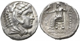 "Kings of Macedon. Arados. Alexander III ""the Great"" 336-323 BC. Struck under Menes or Laomedon.. Tetradrachm AR"