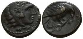 Kings of Macedon. Uncertain mint. Amyntas III 393-369 BC. Bronze Æ