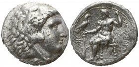 "Kings of Macedon. Uncertain mint in Western Asia Minor.. Alexander III ""the Great"" 336-323 BC. Tetradrachm AR"