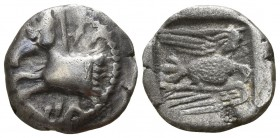 Kings of Thrace. Uncertain mint. Sparadokos 445-435 BC. Diobol AR