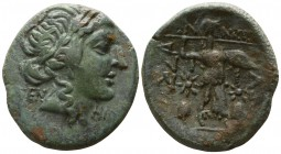 Thessaly. Thessalian League. ΓΕΝNΙΠΠΟΣ, magistrate circa 100-50 BC. Trichalkon Æ