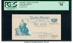Argentina Caja de Conversion 1 Peso 20.9.1897 Pick 235 PCGS About New 50.   HID09801242017  © 2020 Heritage Auctions | All Rights Reserve