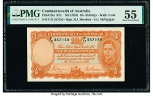 Australia Commonwealth Bank of Australia 10 Shillings ND (1939) Pick 25a R12 PMG About Uncirculated 55.   HID09801242017  © 2020 Heritage Auctions | A...